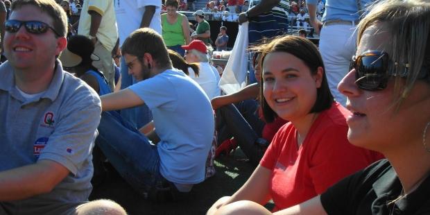 Wendy Ward at the Obama Rally 2008